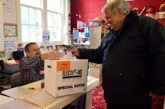 2014 elezione generale - elezioni Nuova Zelanda Fotografia Stock Libera da Diritti