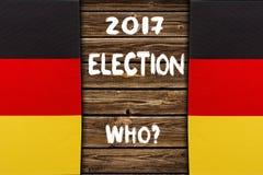 Elezione in Germania, 2017 Concetto politico Fotografie Stock Libere da Diritti
