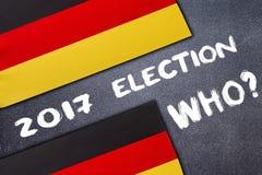 Elezione in Germania sul bordo di gesso fotografia stock