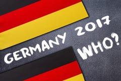 Elezione in Germania sul bordo di gesso fotografia stock libera da diritti