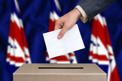 Elezione in Gran Bretagna - votando all'urna fotografia stock libera da diritti