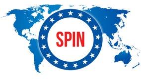 Elezione su un fondo del mondo, di rotazione rappresentazione 3D Mappa del paese del mondo come concetto del fondo politico Votan illustrazione di stock