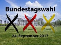 Elezione tedesca 2017 fotografia stock libera da diritti