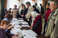 Elezioni alla duma di stato Federazione Russa del 18 settembre 2016 nella regione di Kaluga Immagine Stock Libera da Diritti