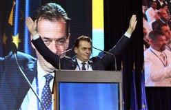 Elezioni del Partito nazional-liberale - Romania immagini stock libere da diritti