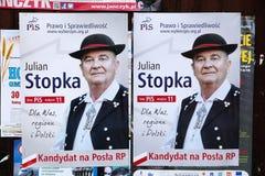 Elezioni della Polonia Fotografie Stock