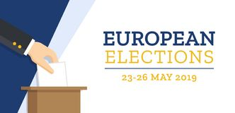 Elezioni europee 2019 illustrazione di stock
