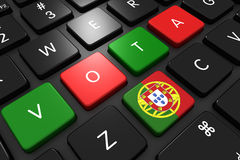 Elezioni portoghesi 2016 Fotografia Stock