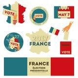 Elezioni presidenziali della Francia royalty illustrazione gratis
