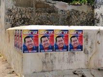 Elezioni presidenziali nel Venezuela in 2012, manifesto Hugo Chavez di elezione fotografia stock libera da diritti