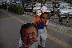 ELEZIONI PRESIDENZIALI PIÙ STRETTE DELL'INDONESIA Fotografia Stock