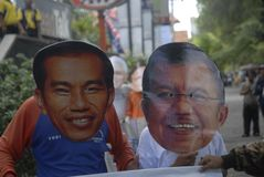 ELEZIONI PRESIDENZIALI PIÙ STRETTE DELL'INDONESIA Fotografia Stock Libera da Diritti