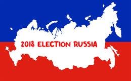 Elezioni presidenziali russe 2018 Concetto di elezione Immagini Stock