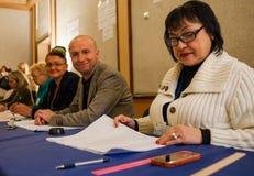 Elezioni in Ucraina fotografie stock
