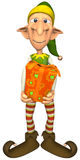 Elf. Christmas Elf with Gift (Picture with isolation on a white background Royalty Free Stock Photo