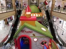 Elf Academy at a Shopping Mall in Virginia royalty free stock image