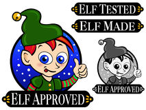 Elf Approved Seal Stock Photo