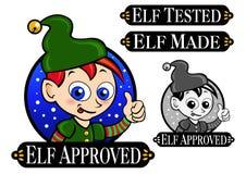 Elf Approved Seal stock illustration