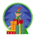 Elf With Background Royalty Free Stock Photography