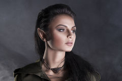 beautiful elf in a cape  Royalty Free Stock Photography