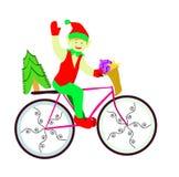 Elf on bike Royalty Free Stock Image
