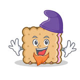 Elf biscuit cartoon character style Stock Images