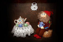 Elf breakfast Royalty Free Stock Photo