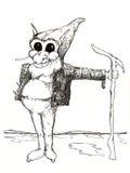 Elf. Caricature illustration of elf Stock Photos