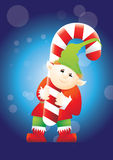 Elf carrying candy Stock Images