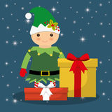 Elf cartoon of Chistmas design Royalty Free Stock Photos