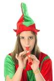 Elf che fa musica Immagini Stock