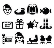 Elf, Christmas  icons set Royalty Free Stock Photography