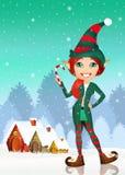 Elf at Christmas Stock Photo