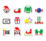 Elf, Christmas  label set Royalty Free Stock Photos