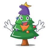 Elf Christmas tree character cartoon. Vector illustration Stock Photography