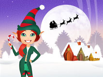 Elf at Chritmas Stock Photography