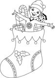 Elf coloring page Stock Photos