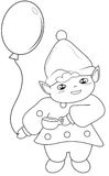 Elf coloring page Stock Photography