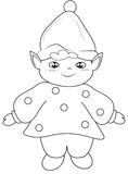 Elf coloring page Royalty Free Stock Image