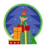 Elf con fondo Fotografia Stock Libera da Diritti