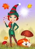 Elf dans la forêt Images stock
