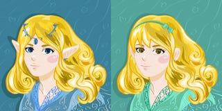 Elf en Menselijk Meisje Royalty-vrije Stock Fotografie