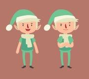 Elf expressif dans différentes poses illustration libre de droits