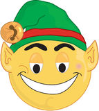 Elf Face. Elf smiley type face, Illustrations Royalty Free Stock Image