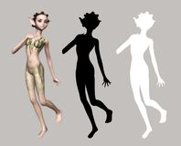 Elf Fairy. Digital figure for your artistic creations Royalty Free Stock Photos
