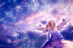 Elf fairy of dreams royalty free stock photography