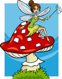Elf fairy fantasy cartoon illustration Stock Photography