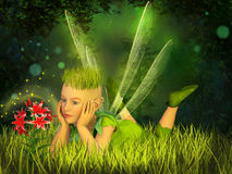 Elf in the fairy forest Royalty Free Stock Photos
