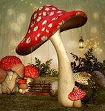Elf fantasy garden Royalty Free Stock Photos