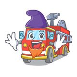 Elf fire truck character cartoon. Vector illustration Stock Photography